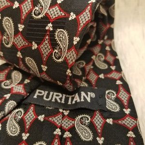 Puritan Blue & Red Paisley Silk Men's Tie (A227)